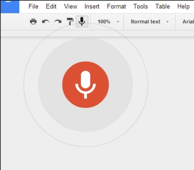 Google Docs Voice to Text